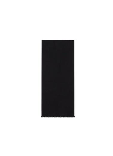 Emporio Armani 625009 0P3 Logo Baskılı Yünlü Erkek Şal Siyah